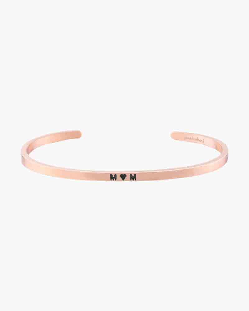 Mantraband Exclusive Heart Mom Rose Gold Bracelet
