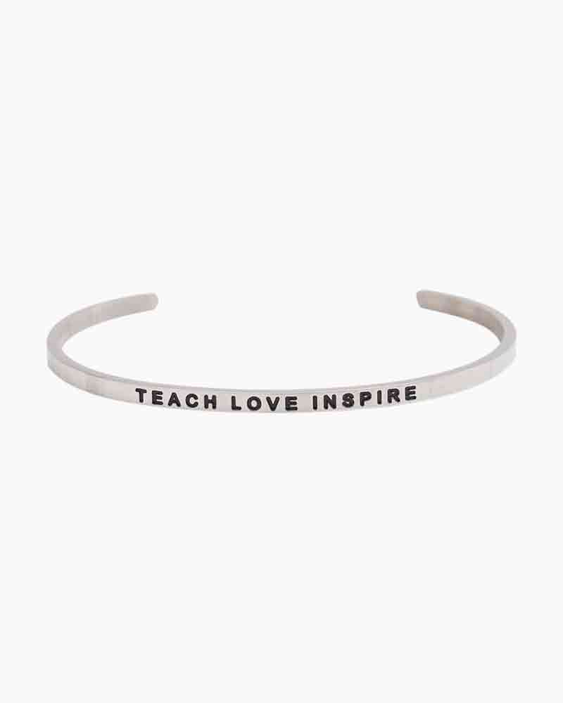 Mantraband Exclusive Teach Love Inspire Silver Bracelet