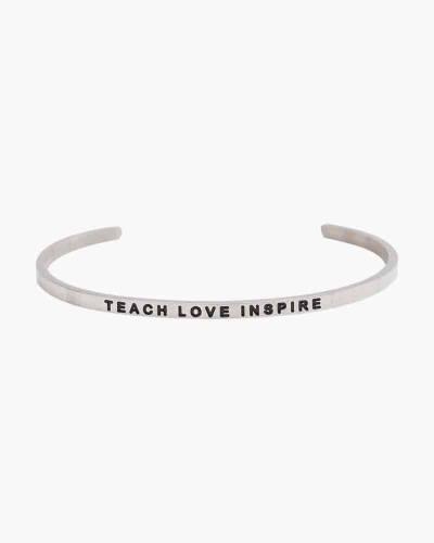 Exclusive Teach Love Inspire Silver Bracelet