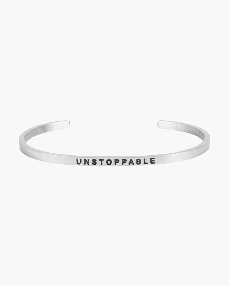 Mantraband Exclusive Unstoppable Silver Bracelet