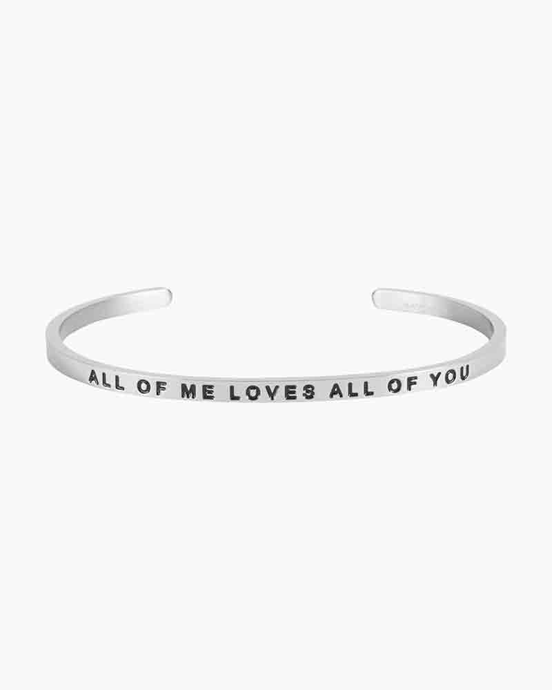 Mantraband Exclusive All of Me Silver Bracelet