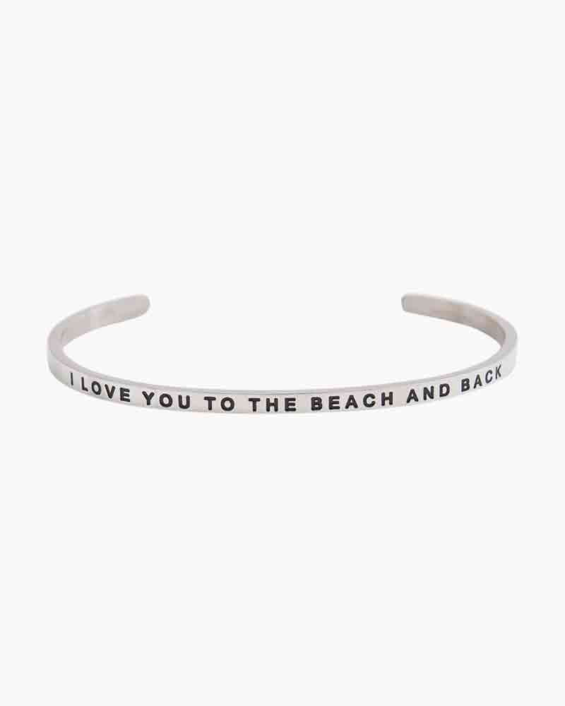 Mantraband Exclusive To the Beach and Back Silver Bracelet