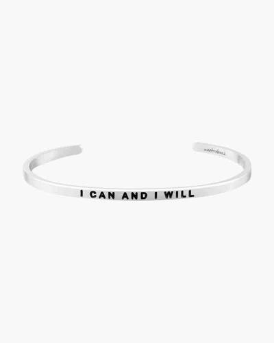 I Can and I Will Silver Bracelet