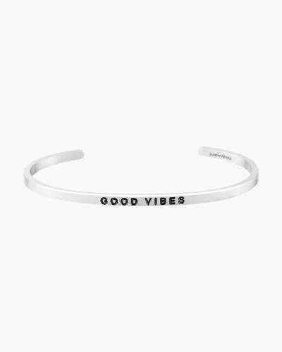 Good Vibes Silver Bracelet