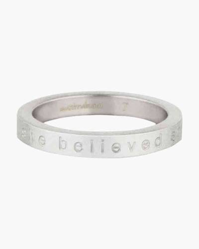 She Believed She Could So She Did Silver RIng