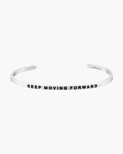 Keep Moving Forward Silver Bracelet