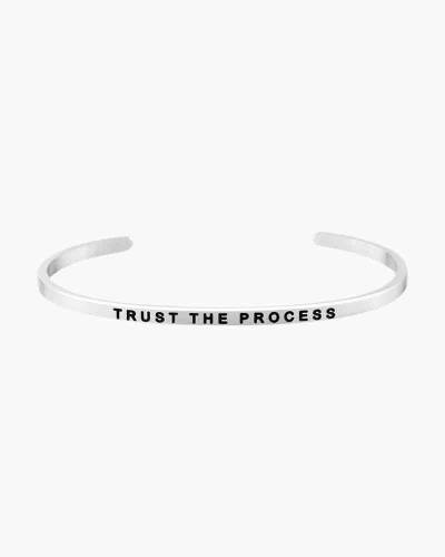 Trust the Process Silver Bracelet