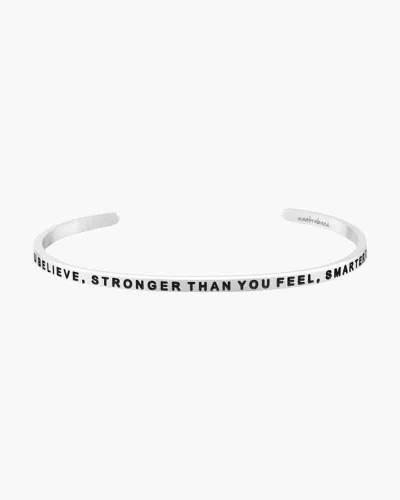 Braver, Stronger, Smarter Silver Bracelet