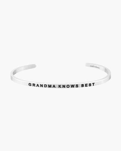 Grandma Knows Best Silver Bracelet