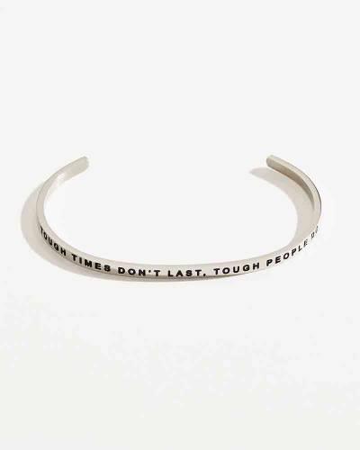Exclusive Tough Times Don't Last Silver Bracelet