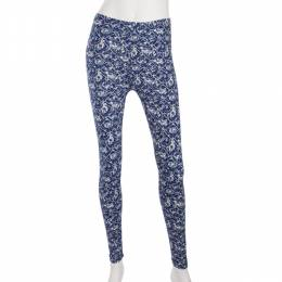 Shosho Distressed Blue Tile Mosaic Leggings
