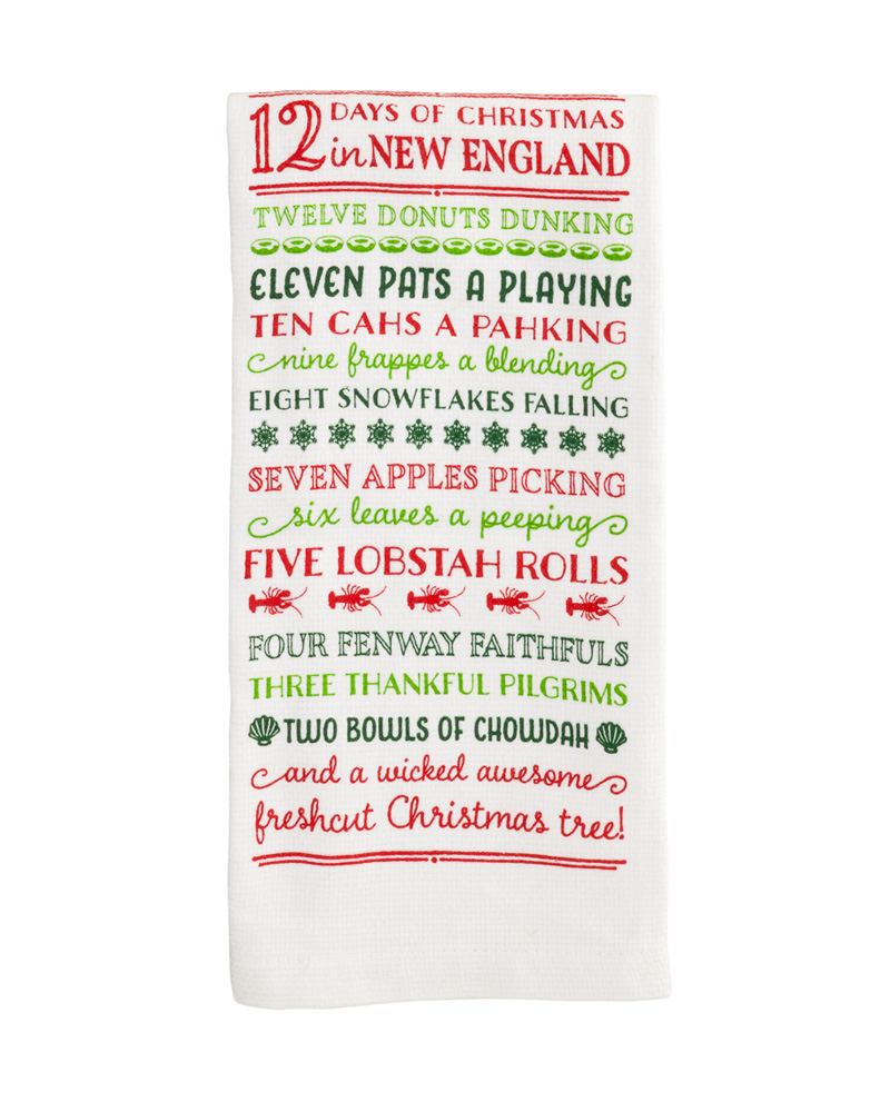 12 Days Of Christmas.12 Days Of Christmas In New England Holiday Kitchen Towel