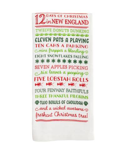 12 Days of Christmas in New England Holiday Kitchen Towel