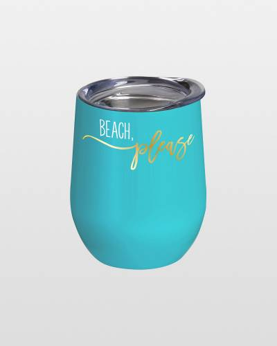 Stemless Wine Cup in Resort Life Ocean