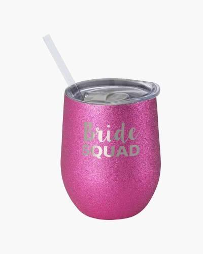 Bride Squad Glitter Stemless Wine Cup
