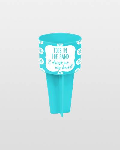 Toes in the Sand Beach Buddy Cup Holder