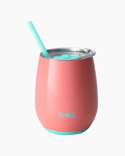 Melon 14 oz. Stemless Wine Cup and Straw