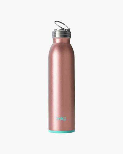 Swig Stainless Steel Water Bottle in Rose Gold