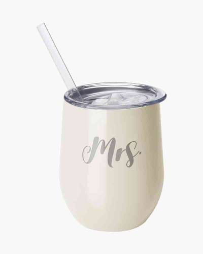 Mrs. 12 oz. Wine Cup with Straw
