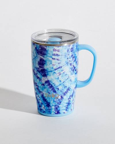 Exclusive Purple and Black Tie Dye 18 oz. Mug
