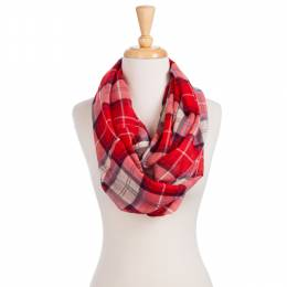 Elegant Essence Sheer Plaid Scarf