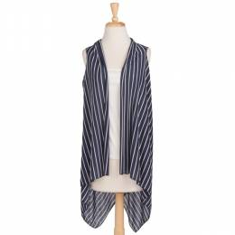 Papillon Navy and White Stripe Scarf Vest