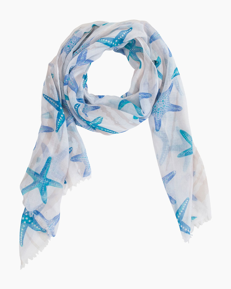 Exclusive Starfish-Print Scarf