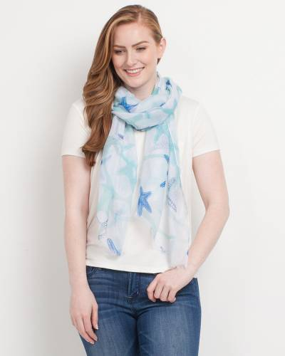 Exclusive Starfish Print Scarf