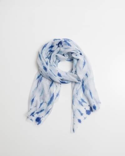 Exclusive Blue Tie-Dye Scarf
