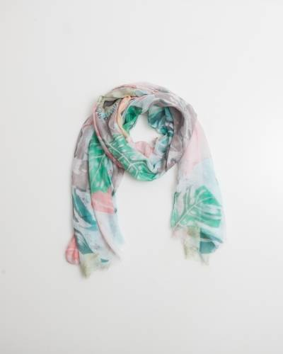 Exclusive Tropical Leaf Scarf