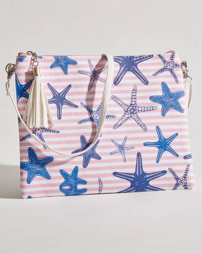 Exclusive Striped Starfish Crossbody in Pink and Navy
