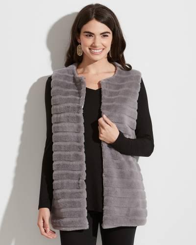 Exclusive Textured Faux-Fur Vest