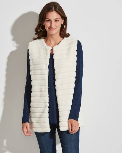 Exclusive Textured Faux-Fur Vest