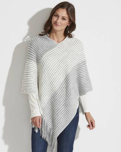 Exclusive Striped Poncho