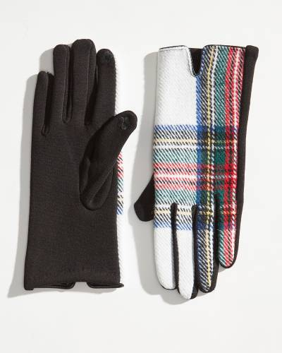 Exclusive Plaid-Backed Gloves