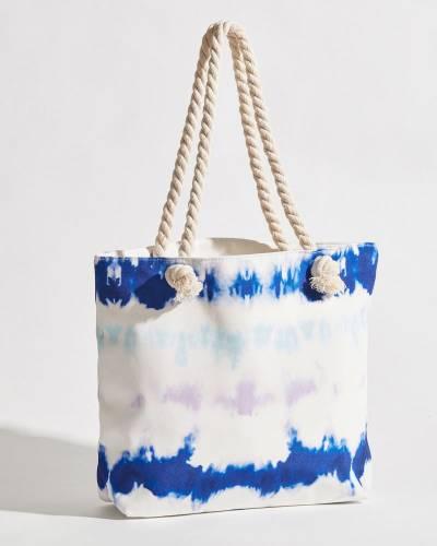 Rope Handle Pastel Tie Dye Tote Bag