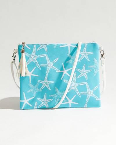Starfish Crossbody in Mint & White