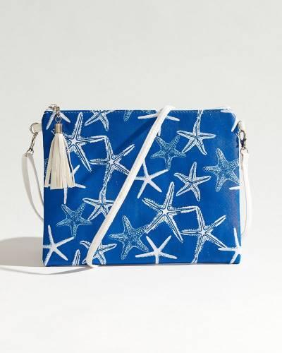 Starfish Crossbody in Blue & White