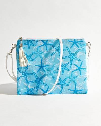 Starfish Crossbody in Light Blue & Aqua
