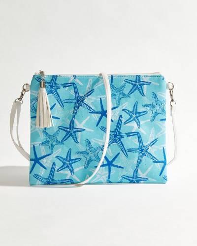 Starfish Crossbody in Blue & Aqua