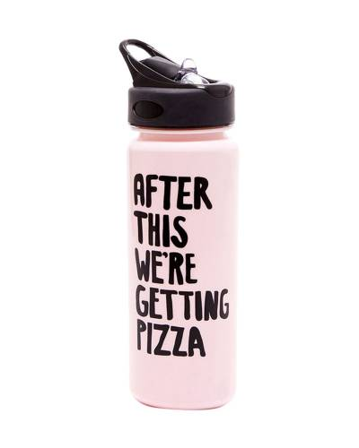 Getting Pizza Work it Out Water Bottle