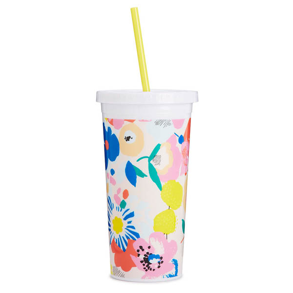 ban.do Mega Blooms Sip Sip Tumbler with Straw