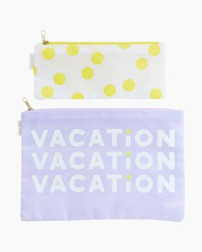 Vacation Dots Caryall Duo Clutch Set