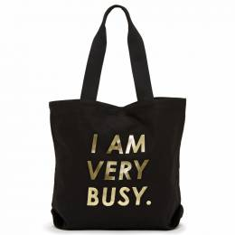 ban.do I Am Very Busy Canvas Tote