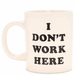ban.do I Don't Work Here Mug