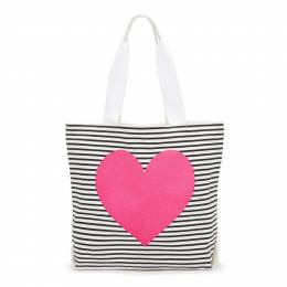 ban.do Striped Neon Heart Tote