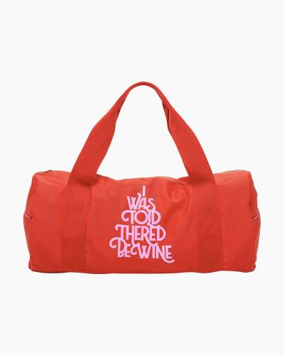Wine Work it Out Gym Bag