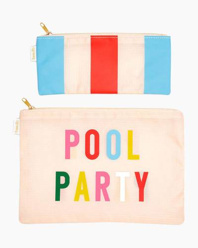 Pool Party and National Stripe Carryall Duo