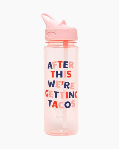 We're Getting Tacos Work it Out Water Bottle