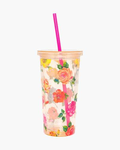 Coming Up Roses Sip Sip Tumbler With Straw